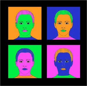 Portrett í anda Andy Warhol
