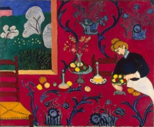 Matisse-The-Dessert-Harmony-in-Red-1908