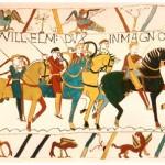 Mynd sem sýnir hluta af Bayeux reflinum. Mynd af Wikimedia Commons.