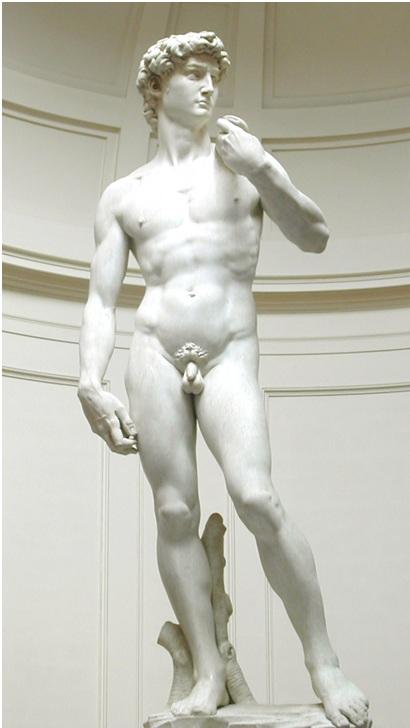 Davíð eftir Michelangelo - Mynd af Wikipedia