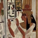 Veggmynd af Nefertari. Mynd af Wikipedia.